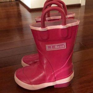 LL Bean toddler rain boots